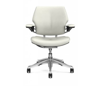 Humanscale Freedom White Leather
