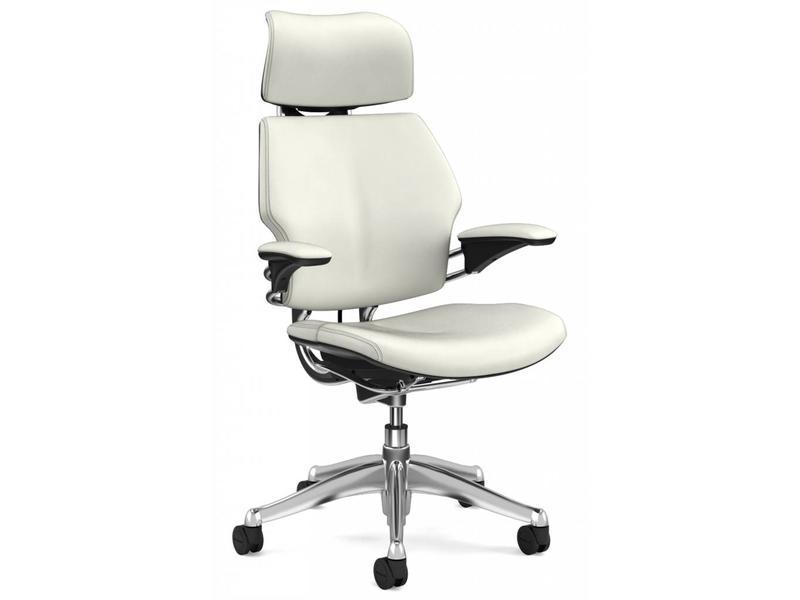 Humanscale Freedom Headrest White Leather