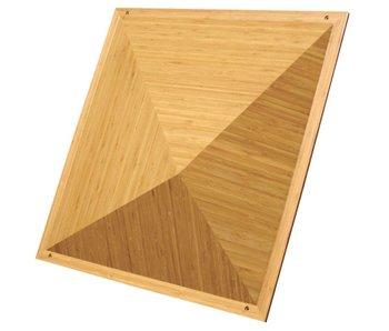 "Auralex Sustain Pyramid Bamboo Diffusor, 6"" x 23.75"" x 23.75"""