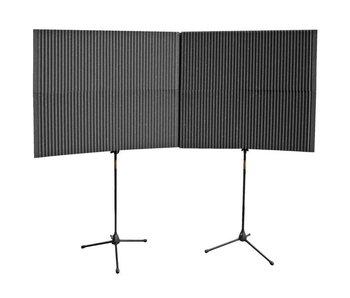 "Auralex MAXWall 420, 4-20""x48""x4.375"" panels, 2-Stands, 2-Clamps"