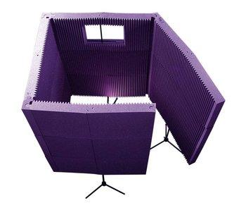 "Auralex MAXWall 1141VB, 11-20""x48""x4.375"" panels, 1-Window, 4-Stands, 4-Clamps, 12-CornerCouplers"