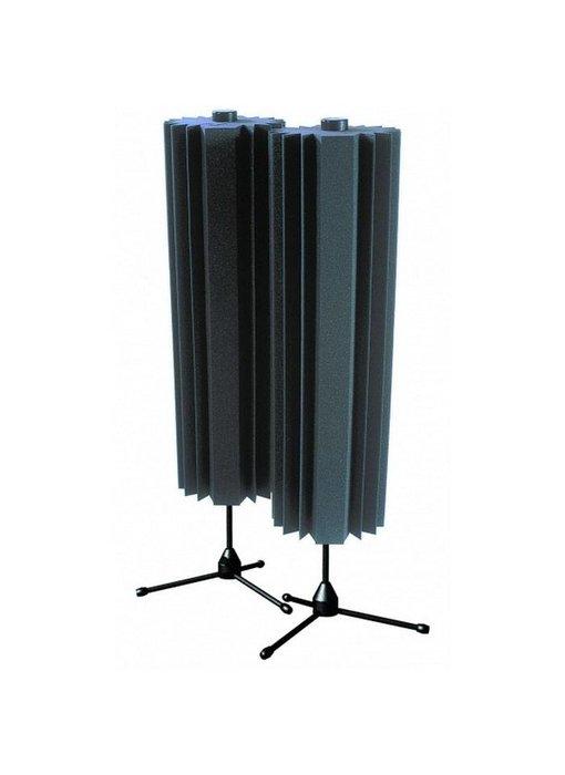 Auralex Sunburst 360s, 2 Sunbursts, 4 Concave stuks, 2 - Stands