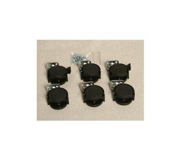 Auralex Casters/Wheels for ProGo 44 base - set of 6 casters