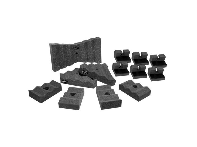 """Auralex AuralXpander set, (1) 14 """"Xpander, (2) 8"""" Tri-Xpanders, (4) 6 """"Trap-Xpanders, (6) Platfeet Isolatoren"""