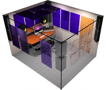 "Auralex Deluxe Plus Roominator Kit, 24-2'x2'x2"" Wedge panels, 8-LENRD Bass Traps, 6-T'Fusor, 5-TTPRO"