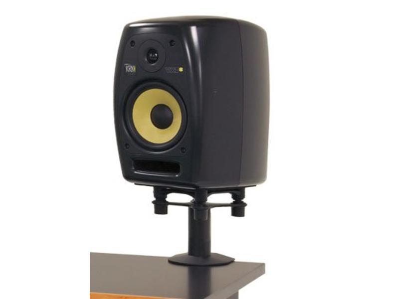 "Argosy Pair Speaker Mounts w/ApertaS Platform, Flex Mount Clamp in Black (7.75"")"