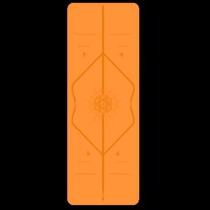 Liforme Happiness Mat - Oranje (incl. tas)