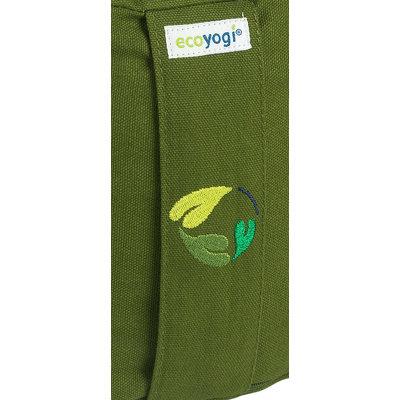 Ecoyogi meditatiekussen hoog Olijf groen (eco)
