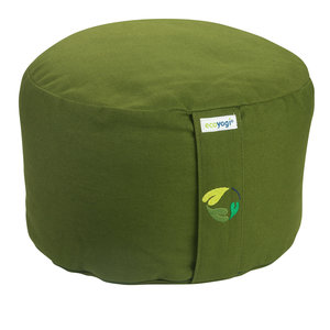 Ecoyogi meditatiekussen Olijf groen hoog (eco) - 18-20 cm
