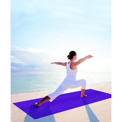 Balans reis mat - yoga topper  – Paars - 185 x 66 x 0,4 cm