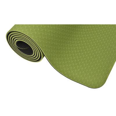 Ecoyogi TPE Yoga mat Groen/zwart - 6 mm