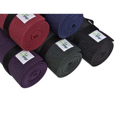 Ecoyogi Classic yoga mat 183 cm - Zwart