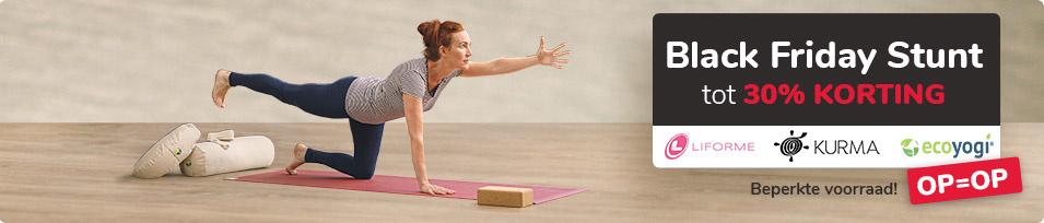 Yoga handdoek banner