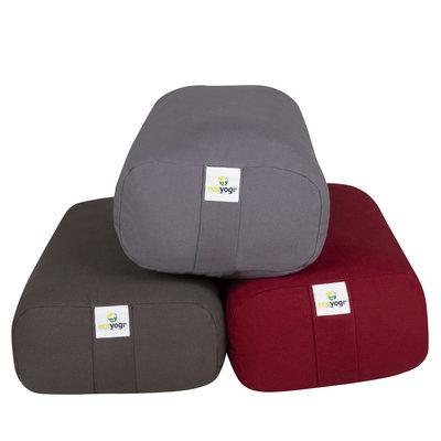 Ecoyogi rectangular yoga bolster - Antraciet