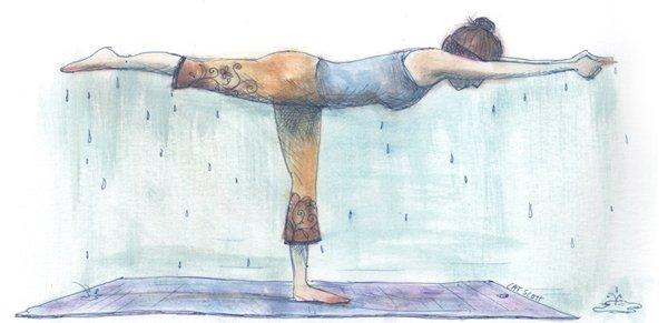 Welke yoga mat is geschikt bij veel tot overmatig zweten?