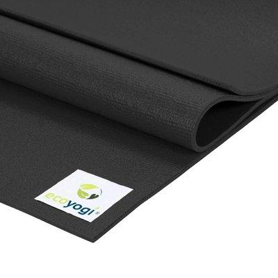 Ecoyogi Studio yoga mat - Zwart 200 cm
