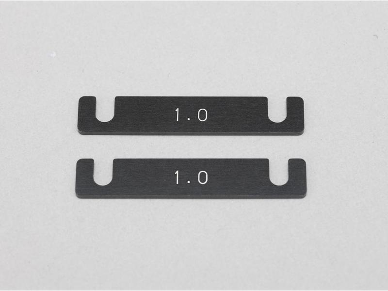 Yokomo Y2-301S - Aluminum Suspension Mount Spacer 1.0mm (2pcs)