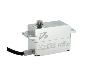 RC OMG D3 Brushless Digital Servo 15kg Full Metal Low Profile - Full Silver