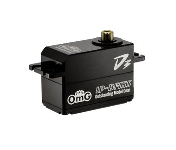 RC OMG D3 Brushless Digital Servo 15kg Full Metal Low Profile - Full Black