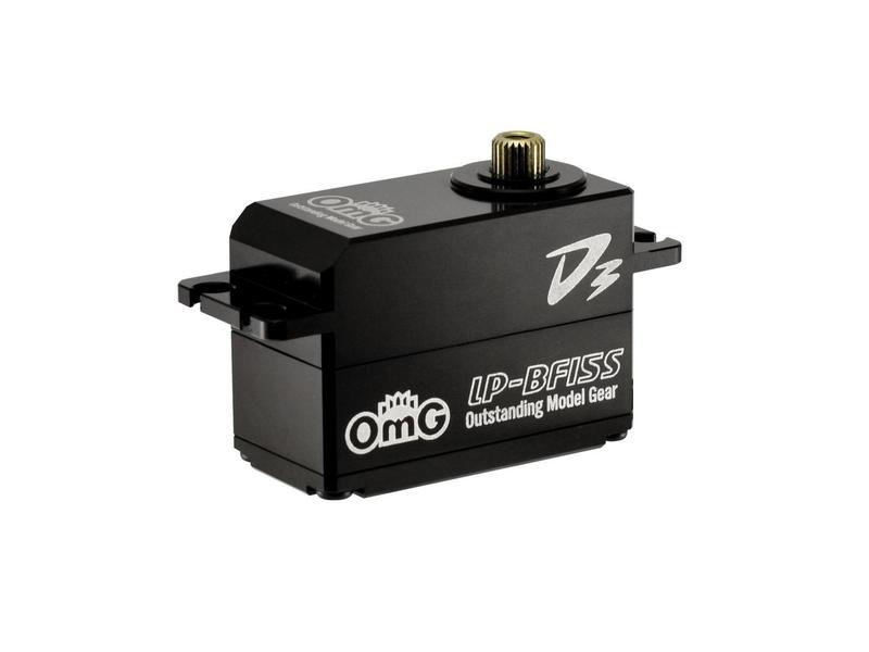 RC OMG D3-LP-BF15S/FBK - D3 Brushless Digital Servo 15kg Full Metal Low Profile - Full Black