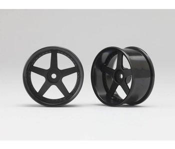 Yokomo RP 5 Spoke 01 Drift Wheel - Black (2pcs)