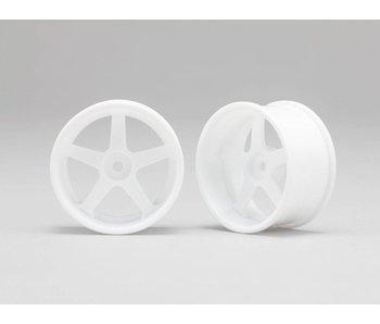 Yokomo RP 5 Spoke 01 Drift Wheel - White (2pcs)