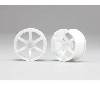 Yokomo RP 6 Spoke 02 Drift Wheel - White (2pcs)