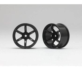 Yokomo RP 6 Spoke 02 Drift Wheel - Black (2pcs)