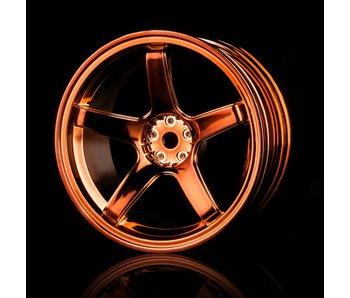 MST 5 Spokes Wheel (4) / Copper