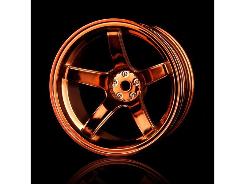 MST 5 Spokes Wheel (4pcs) / Color: Copper
