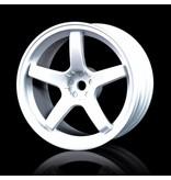 MST 5 Spokes Wheel (4pcs) / Color: White