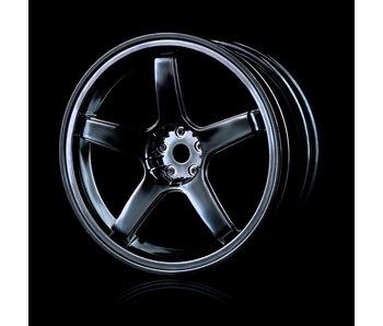 MST 5 Spokes Wheel (4) / Silver Black