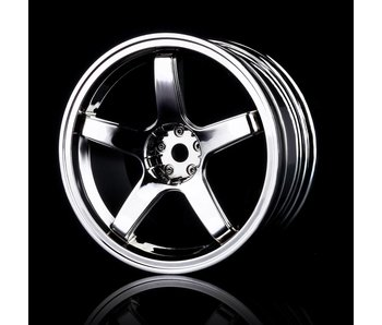 MST 5 Spokes Wheel (4) / Silver