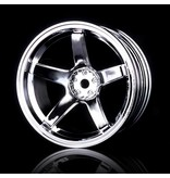MST 5 Spokes Wheel (4pcs) / Color: Silver (Chrome)