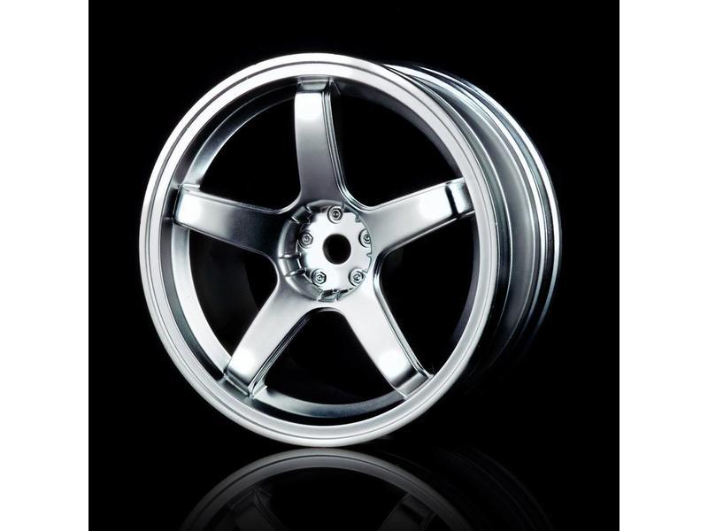 MST 5 Spokes Wheel (4pcs) / Color: Flat Silver