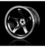 MST 5 Spokes Wheel (4pcs) / Color: Black