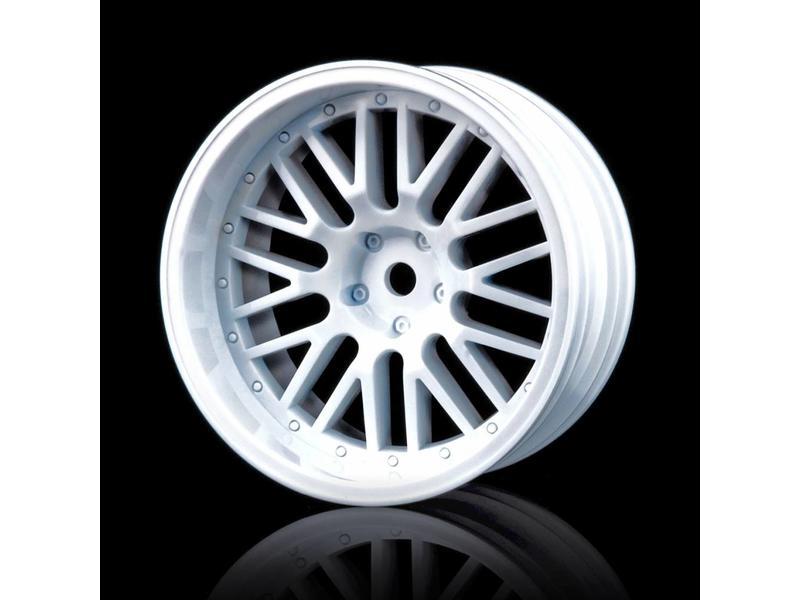 MST 10 Spokes 2 Ribs Wheel (4pcs) / Color: White