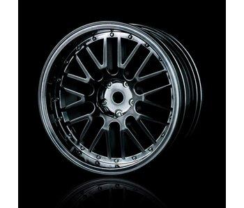 MST 10 Spokes 2 Ribs Wheel (4) / Silver Black