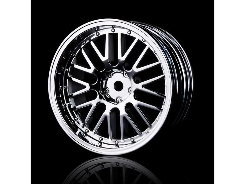 MST 10 Spokes 2 Ribs Wheel (4pcs) / Color: Silver (Chrome)