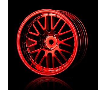 MST 10 Spokes 2 Ribs Wheel (4) / Red