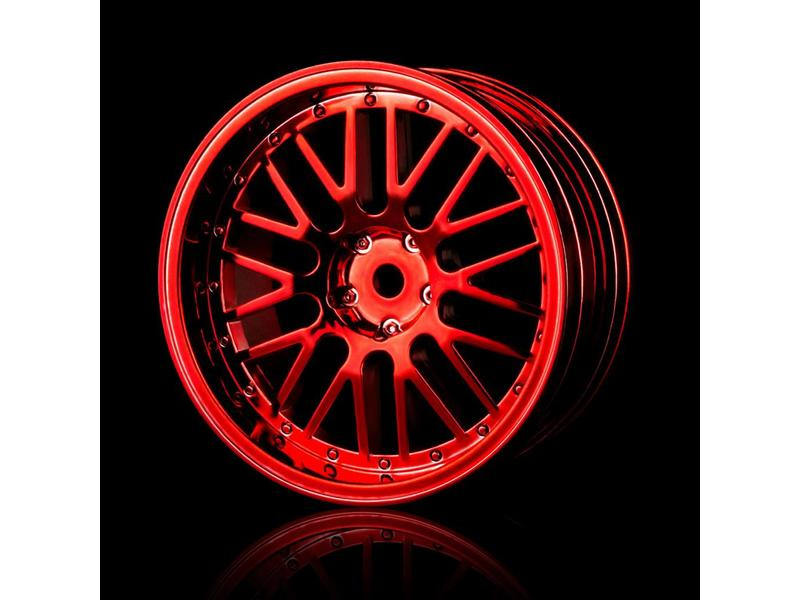 MST 10 Spokes 2 Ribs Wheel (4pcs) / Color: Red