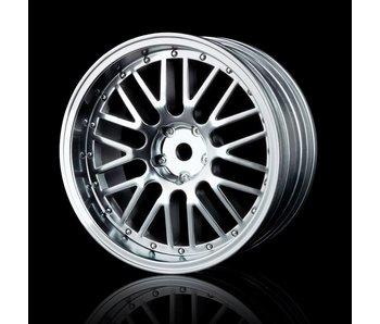 MST 10 Spokes 2 Ribs Wheel (4) / Flat Silver