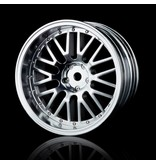 MST 10 Spokes 2 Ribs Wheel (4pcs) / Color: Flat Silver