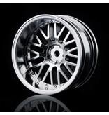 MST 10 Spokes 2 Ribs Wheel (4pcs) / Color: Flat Silver