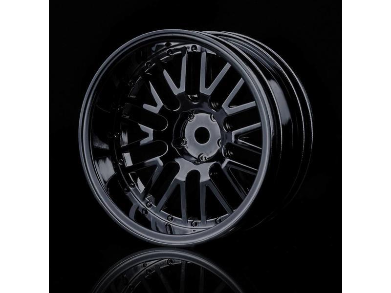 MST 10 Spokes 2 Ribs Wheel (4pcs) / Color: Black