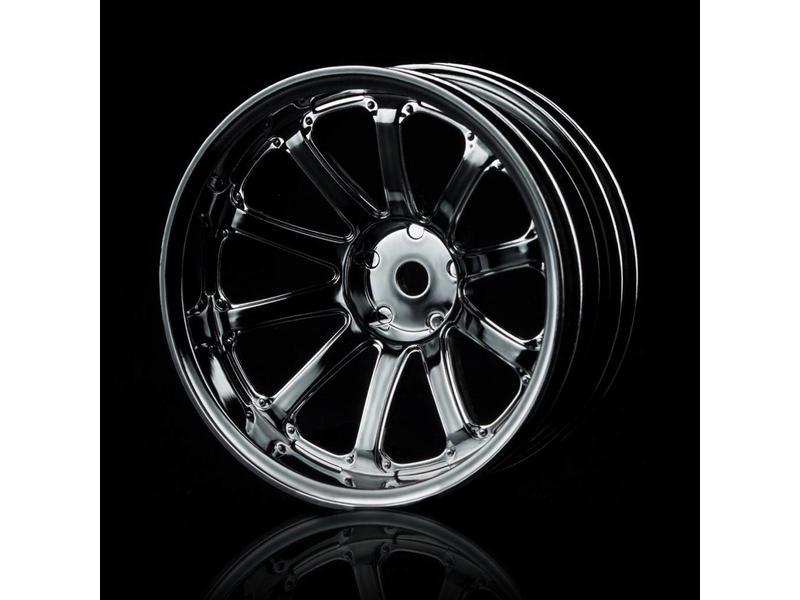MST 77SV Wheel (4pcs) / Color: Silver Black (Dark Chrome)
