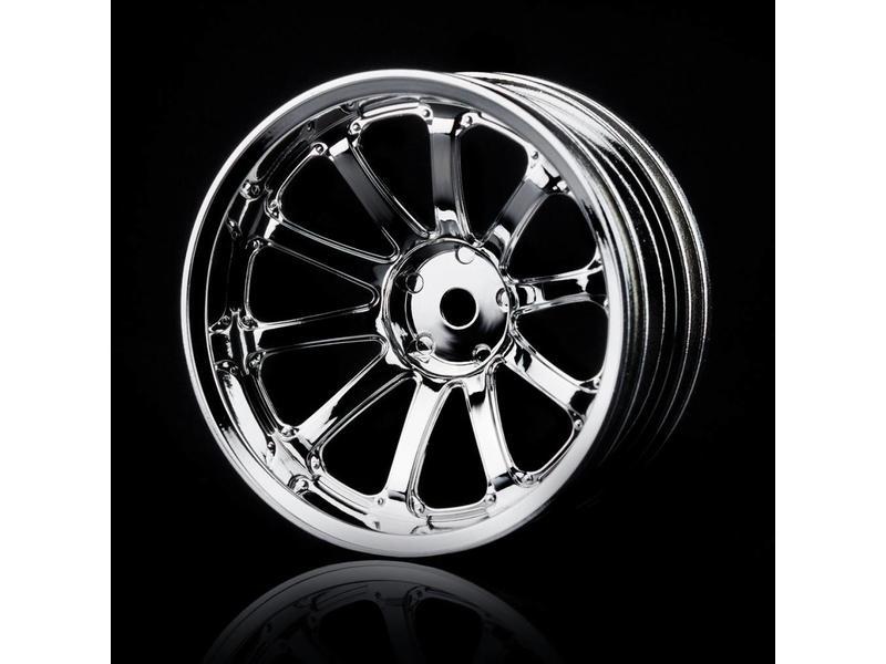 MST 77SV Wheel (4pcs) / Color: Silver (Chrome)