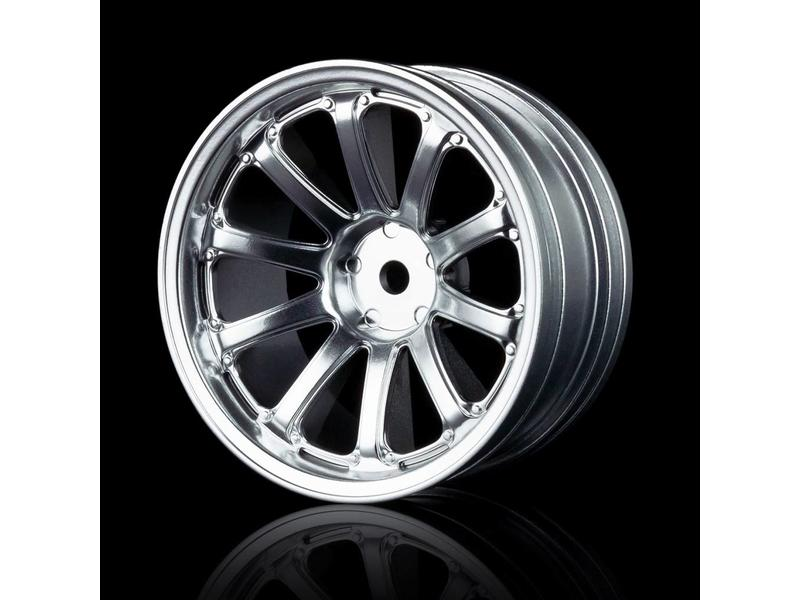 MST 77SV Wheel (4pcs) / Color: Flat Silver