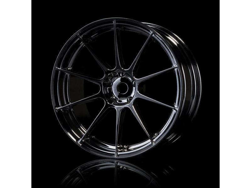 MST 5H Wheel (4pcs) / Color: Silver Black (Dark Chrome)