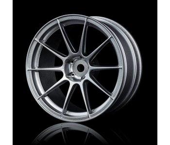 MST 5H Wheel (4) / Flat Silver